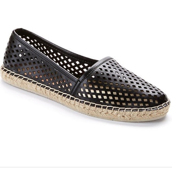 Dolce Vita Shoes - Dolce Vita Perforated Black Espadrilles
